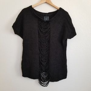 NWT Obey Black Oversized Sweater Knit Top